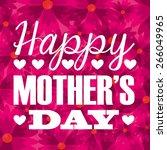 mothers day design  vector... | Shutterstock .eps vector #266049965