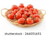 fresh cherry tomato | Shutterstock . vector #266051651