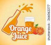 juice fruit design  vector... | Shutterstock .eps vector #266062277