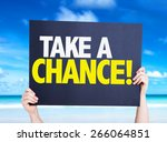 take a chance card with beach... | Shutterstock . vector #266064851