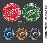 vector   circle grunge 100 ... | Shutterstock .eps vector #266065154