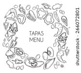 vector tapas menu for bar and... | Shutterstock .eps vector #266072801