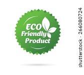 eco friendly sticker | Shutterstock .eps vector #266080724