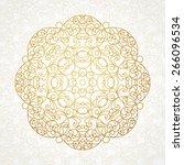 vector vintage pattern in... | Shutterstock .eps vector #266096534