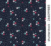 beautiful ditsy floral seamless ... | Shutterstock .eps vector #266099885
