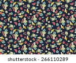 beautiful ditsy floral and... | Shutterstock .eps vector #266110289