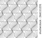 black line graphic pattern... | Shutterstock .eps vector #266111231