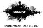 Stock vector splatter paint texture distress grunge background scratch grain noise rectangle stamp black 266118107