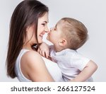 Happy Young Mother With A Chil...