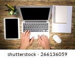 mac  laptop  top. | Shutterstock . vector #266136059