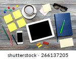 desk  overhead  gadget.   Shutterstock . vector #266137205