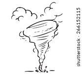 tornado doodle | Shutterstock .eps vector #266152115