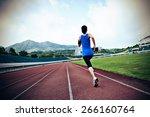 young fitness woman runner ... | Shutterstock . vector #266160764