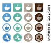 coffee icons | Shutterstock .eps vector #266178005
