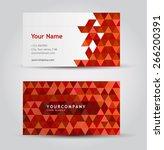 vector business card set | Shutterstock .eps vector #266200391