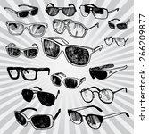 sunglasses  | Shutterstock .eps vector #266209877