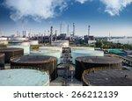 Landscape Of Oil Refinery...