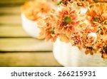 orange chrysanthemum flowers in ... | Shutterstock . vector #266215931