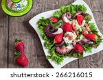 octopus and strawberries salad...