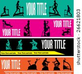exercise web banner vector... | Shutterstock .eps vector #26621803