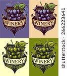 winery shield | Shutterstock .eps vector #266223641