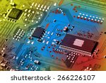 electronic circuit board close... | Shutterstock . vector #266226107