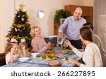 celebration of christmas in the ... | Shutterstock . vector #266227895