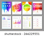 creative vector set of colored... | Shutterstock .eps vector #266229551
