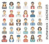 flat icons   people | Shutterstock .eps vector #266246105