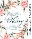 bridal shower invitation | Shutterstock .eps vector #266246399
