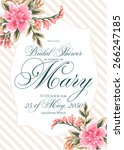 bridal shower invitation card | Shutterstock .eps vector #266247185