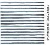 hand paint striped watercolor... | Shutterstock .eps vector #266255069