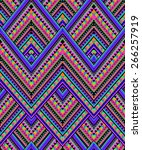 cool abstract zigzag design  ... | Shutterstock .eps vector #266257919