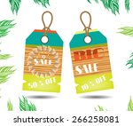 summer stickers with text sale... | Shutterstock .eps vector #266258081