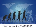 human evolution into the... | Shutterstock . vector #266259395