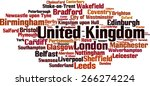cities in united kingdom word... | Shutterstock .eps vector #266274224