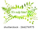 spring frame with watercolor...   Shutterstock .eps vector #266276975