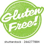 gluten free food stamp design | Shutterstock .eps vector #266277884