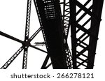 abstract steel framing of a... | Shutterstock . vector #266278121