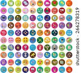 flat icons set  vector... | Shutterstock .eps vector #266278319