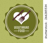 vegetarian food design  vector... | Shutterstock .eps vector #266285534