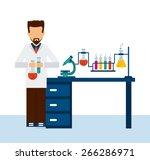 scientific laboratory design ... | Shutterstock .eps vector #266286971