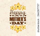 happy mothers day design vector ...   Shutterstock .eps vector #266287757