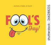 fools day design  vector... | Shutterstock .eps vector #266288231