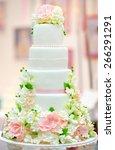 White Wedding Cake Decorated...