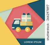 shopping freight transport flat ... | Shutterstock .eps vector #266297897