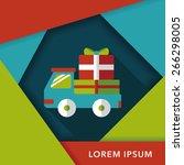shopping freight transport flat ... | Shutterstock .eps vector #266298005