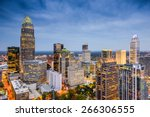 Small photo of Charlotte, North Carolina, USA uptown skyline.