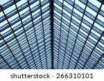 transparent glass ceiling | Shutterstock . vector #266310101