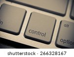 control on the keyboard. film... | Shutterstock . vector #266328167